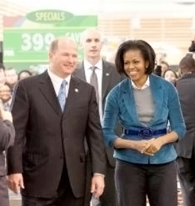 Patrick J. Burns with Michelle Obama